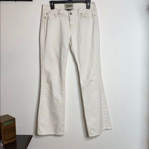 Lucky Brand White Flare Jeans